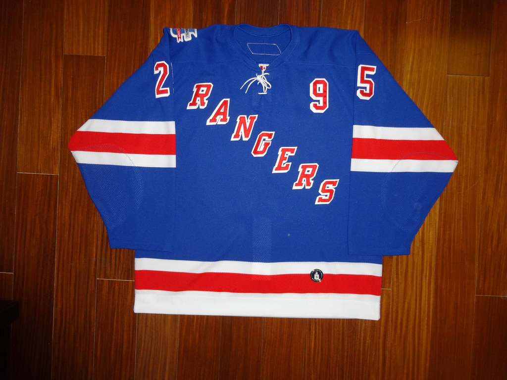 Pre-Game Worn Howell/Bathgate Night Reebok 6100 Petr Prucha New York Rangers Home Jersey Front