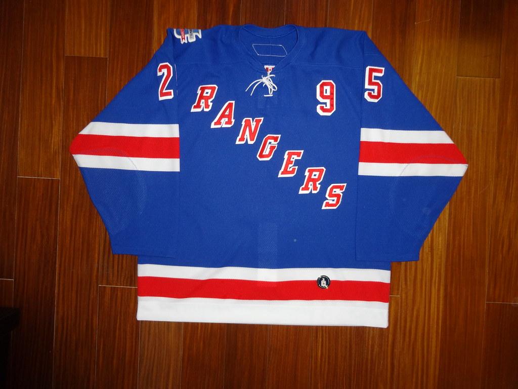 Pre-Game Worn Howell/Bathgate Night Reebok 6100 Petr Prucha New York Rangers Home Jersey Front
