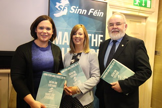 Mary Lou McDonald TD, Cllr Catherine Seeley & Francie Molloy MP