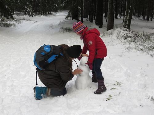 Schneemannbau
