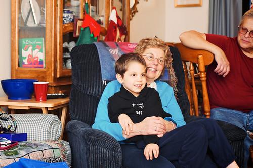 Noah and grandma.