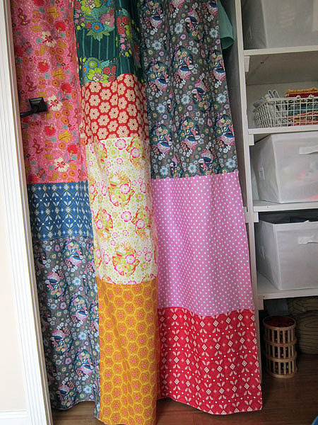 Folk Song nursery closet curtains
