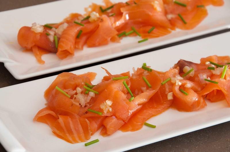Carpaccio of salmon