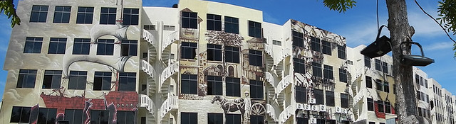 A Series of Murals Adorn the Walls of this Apartment Building in Malaka, Malaysia