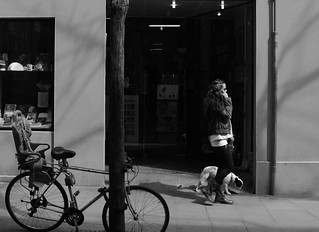 155) - the girl, dog and bicycle
