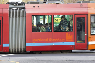 The evening commute begins on the Portland Streetcar