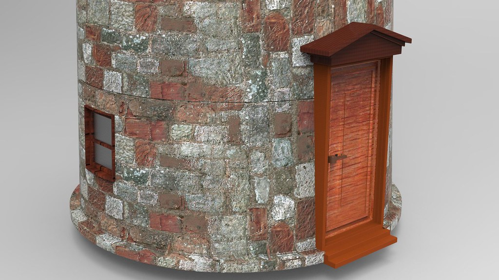 Rusted Old 3d Light House Textured 3d Model