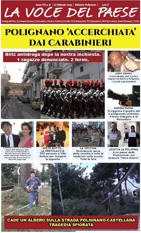 copertina la voce del paese polignano 27 febbraio 2015