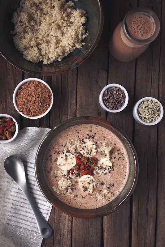 Cacao Hemp Quinoa Breakfast Bowl