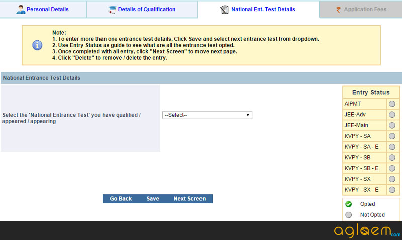 IISc Application Form