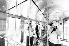 Elevator reflections high key