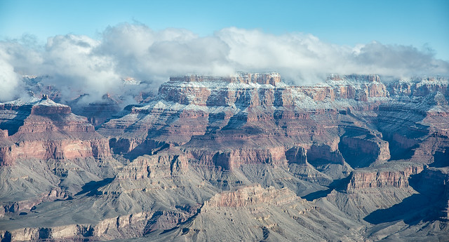 Grand Canyon Snow and Clouds