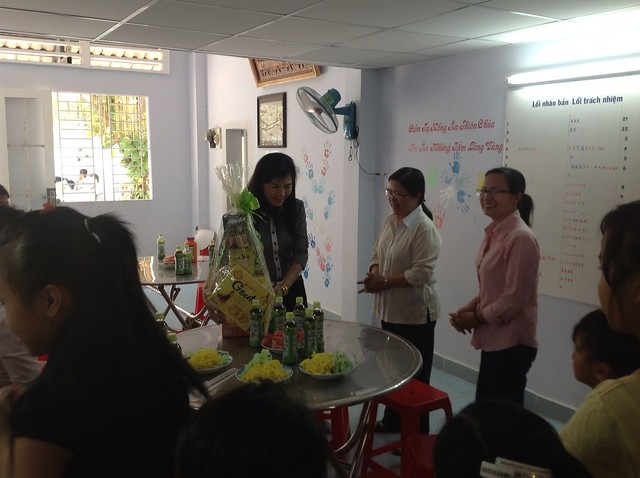 School staff visited OBV in Lunar New Year