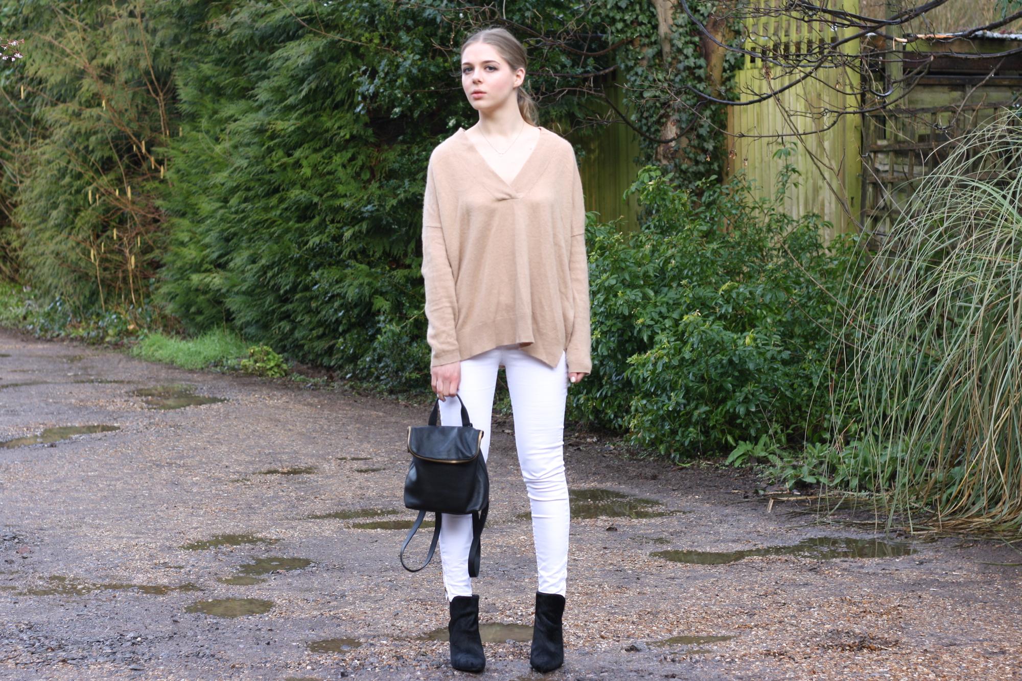 Zara camel cashmere sweater