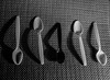 black and white spoons_