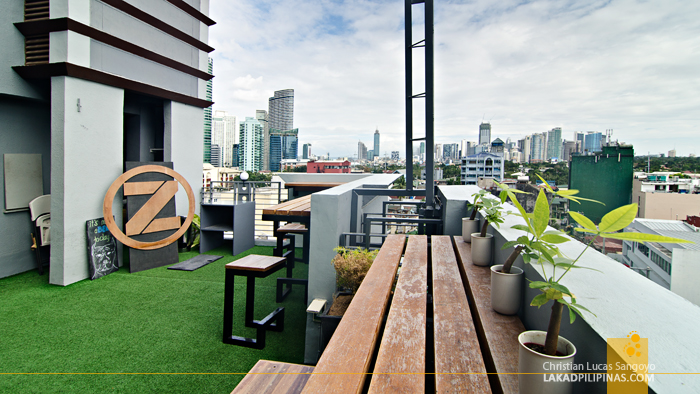 Roof Deck at Z Hostel in Makati