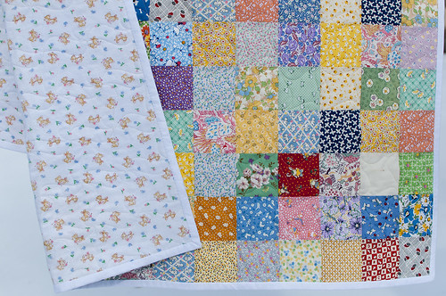 quick and easy baby quilt with flannel back