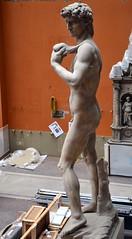 Michelangelo Buonarotti (1475-1564) - David (19th century plaster cast) above left, Victoria & Albert Museum, London, summer 2012