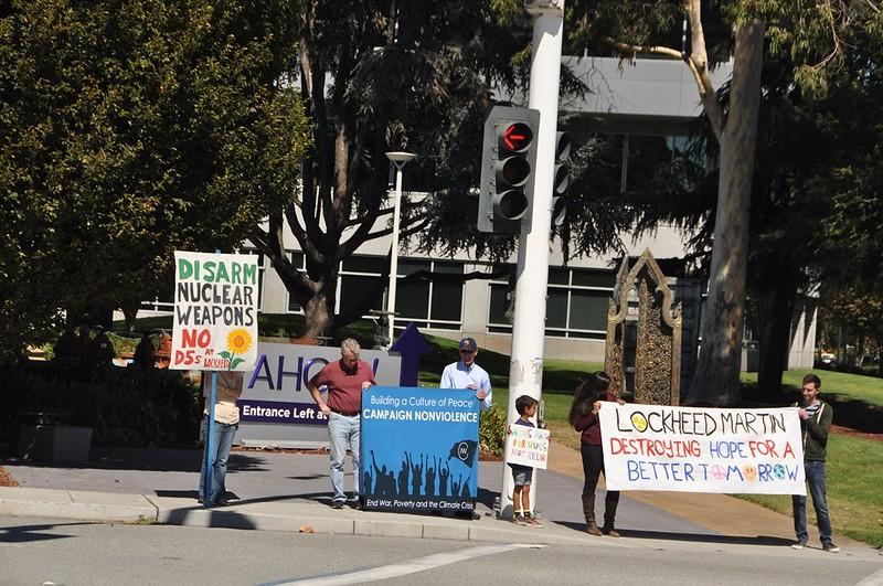 Sunnyvale, CA Peace Vigil at Lockeed Martin 2016 (1)