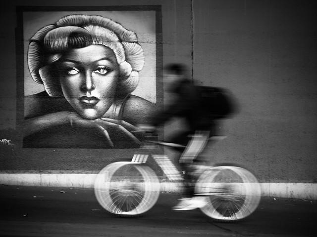 biker in motion