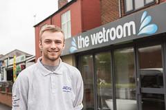 Billy Jones Plumbing Apprentice Level 2 with the wetroom
