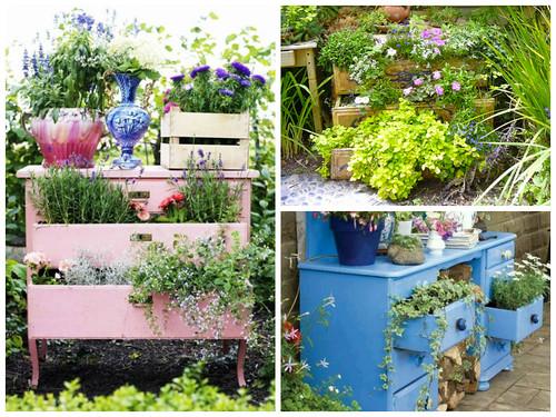 DIY: Recycled garden dresser