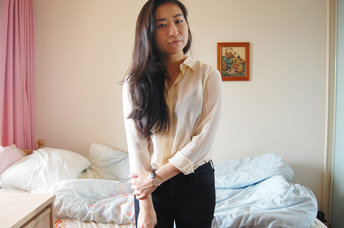 uniqlo silk shirt