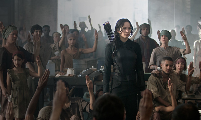 Jennifer Lawrence finds herself a pawn on both sides of THE HUNGER GAMES: MOCKINGJAY - PART 1.
