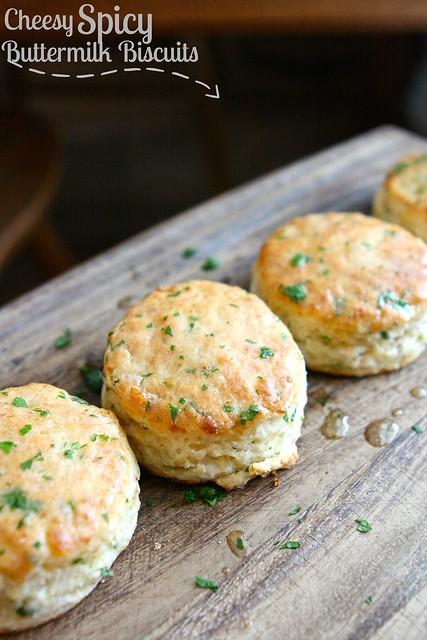 Cheesy Spicy Buttermilk Biscuits