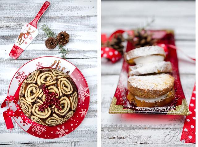 dolci di Natale con gelato