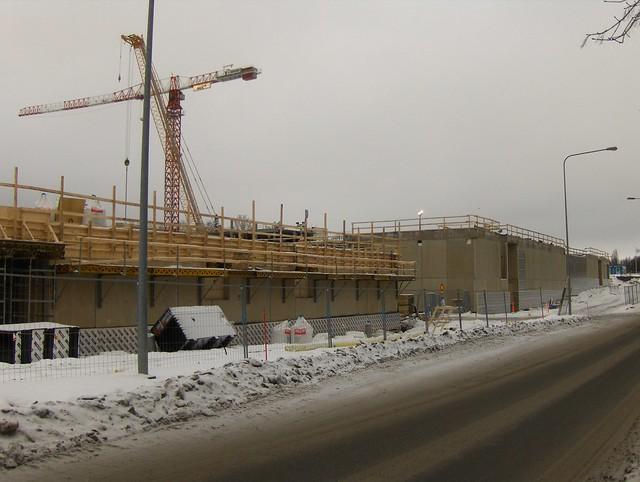 Hämeenlinnan moottoritiekate ja Goodman-kauppakeskus: Työmaatilanne 13.1.2013 - kuva 1