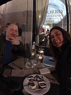 Cristiano e io presso Il Borro Tuscan Bistro
