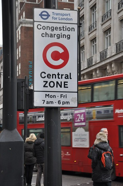 Congestion Zone sign London