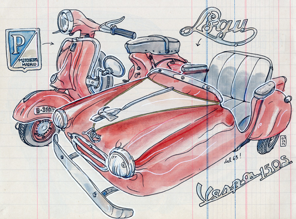 side car vespa