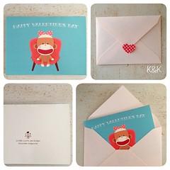 Happy Valentine's Day Note Card♡ バレンタイン仕様のメッセージカードです♡ #Creema #minne #Etsy に出品しました♪  #sockmonkey #valentinesday #valentine #handmade #ソックモンキー#バレンタイン #バレンタインデー #ハンドメイド #pink #aqua  #heart #polkadots #ピンク #アクア #ハート #水玉
