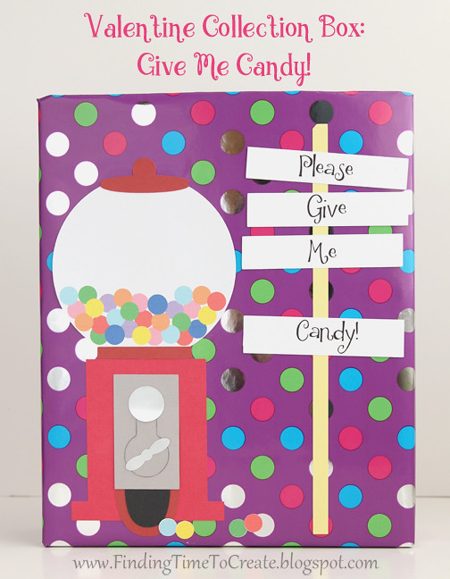 Gumball Valentine Collection Box