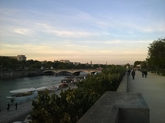 Nearing sunset along the Seine