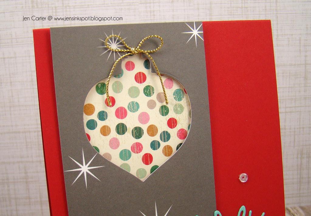 Merry Christmas Bauble Closeup Top