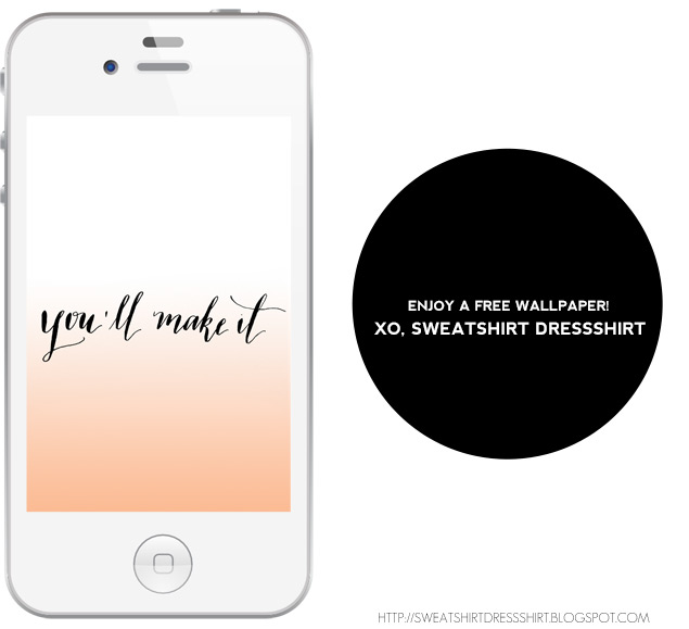 you'll make it, free phone wallpaper, modern calligraphy, zebra g nib, seattle calligrapher