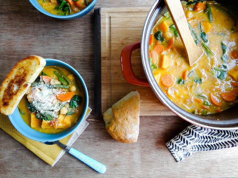 Sweet Potato Pesto Minestrone // SMBP