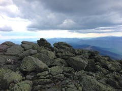 On the rocks at Mount Washington.