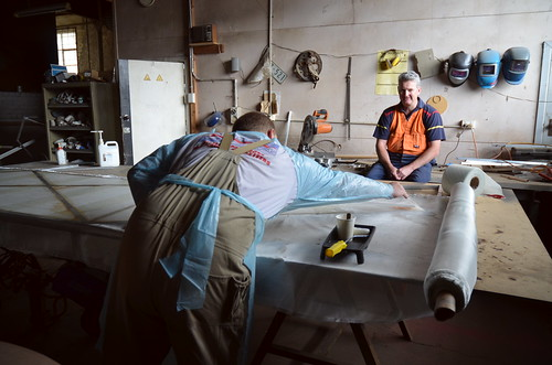 Fin Fabrication (Jase Batey & Karl Hemphill) - V2 Build Day 16th Mar, 2014