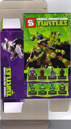"Sheng Yuan TEENAGE MUTANT NINJA TURTLES :: ""SHREDDER"" Bootleg Minifigure Set / ..box iii (( 2014 ))"