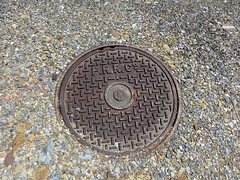manhole, manhole cover, circle, road surface, infrastructure,