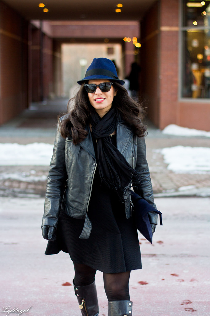LBD, Leather jacket, Navy fedora-6.jpg
