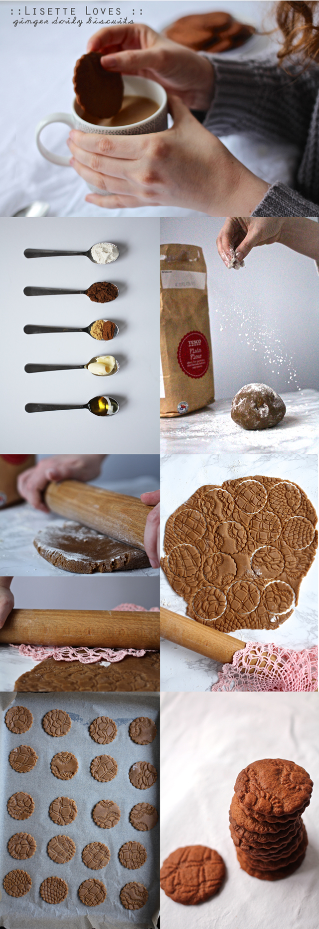 ginger doily cookies