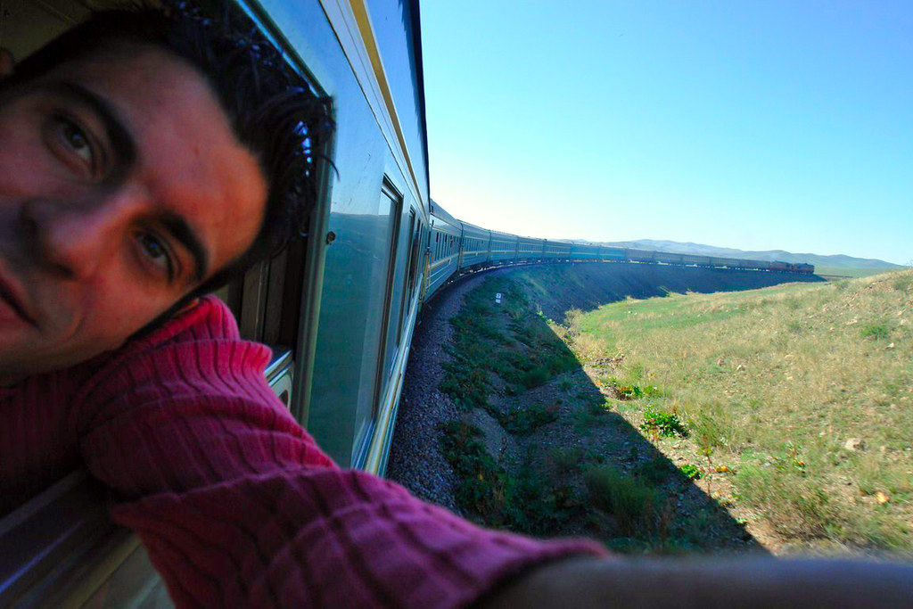 Adentrándonos en el Gobi en éste gigantesco tren