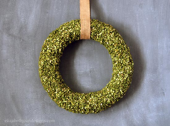 Spring Split Pea Wreath