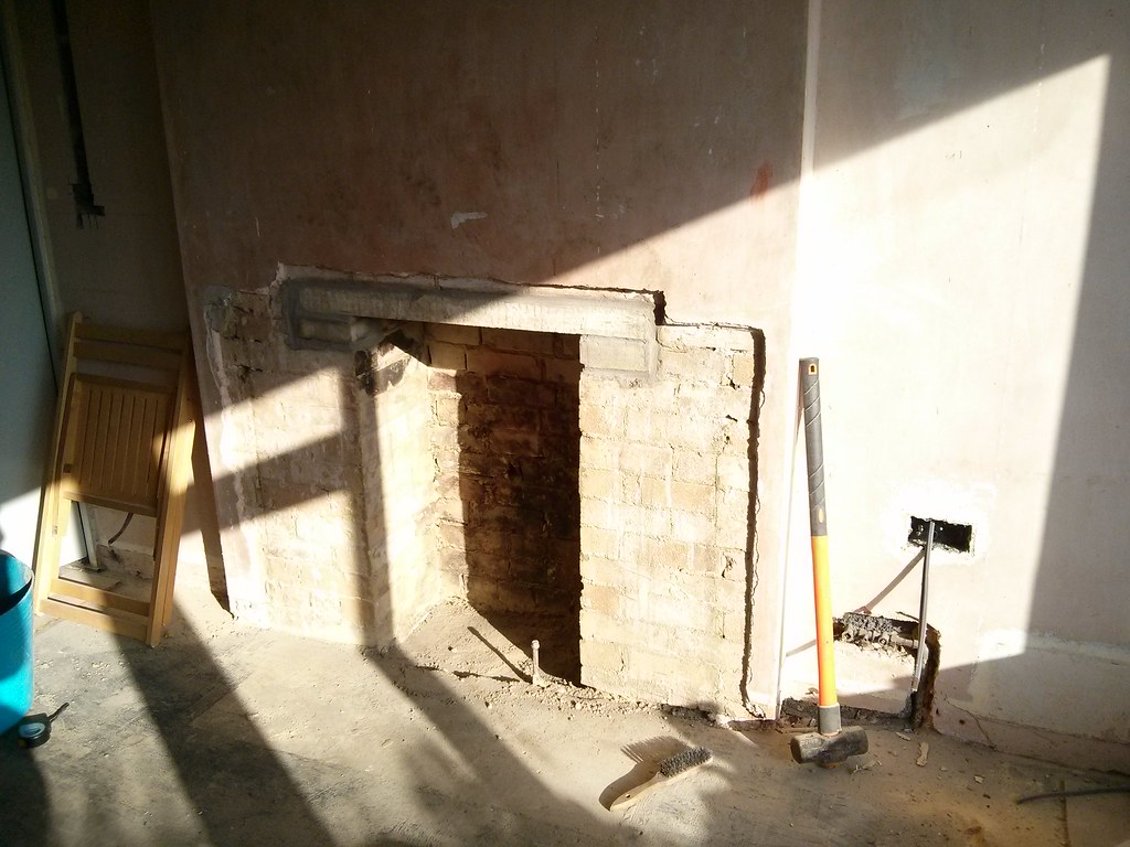 opening up the inglenook woodburner stove progress pics