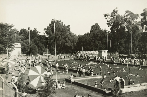 Castlemaine swimming pool.